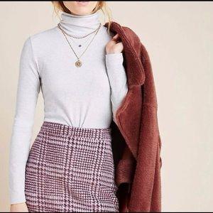 NWT Anthropologie Gregoria Textured Mini Skirt